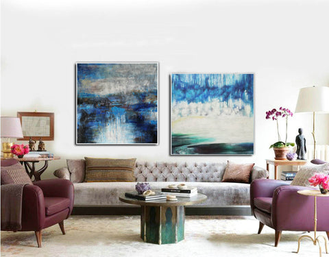 Image of Modern oil paintings  Modern abstract painting  Large abstract painting F124-9