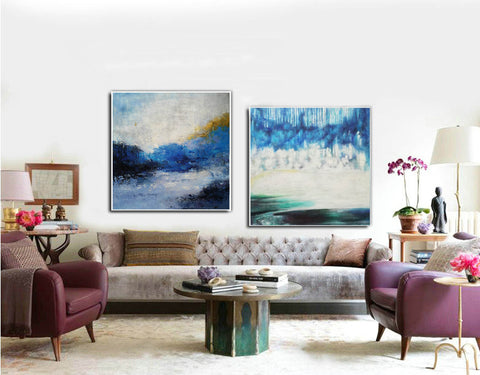 Image of Modern wall art  Modern paintings  Abstract wall art F118-9