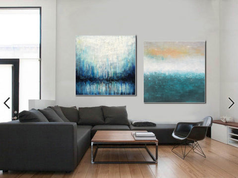 Oil on canvas abstract art  Original modern abstract painting F134-10
