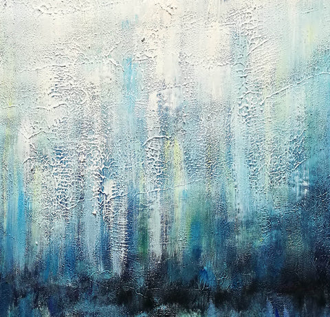 Oil on canvas abstract art  Original modern abstract painting F134-1