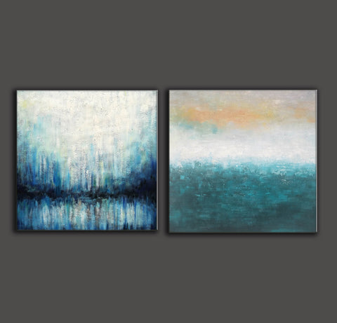 Oil on canvas abstract art  Original modern abstract painting F134-4