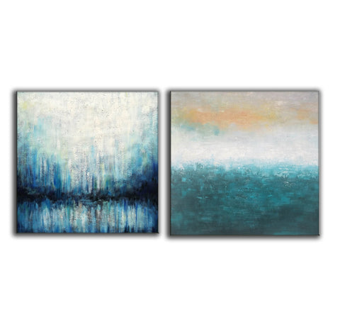 Image of Oil on canvas abstract art  Original modern abstract painting F134-5