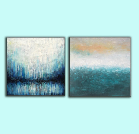 Image of Oil on canvas abstract art  Original modern abstract painting F134-6
