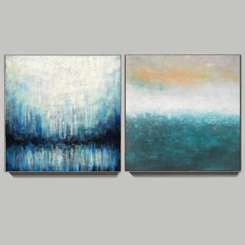Oil on canvas abstract art  Original modern abstract painting F134-7