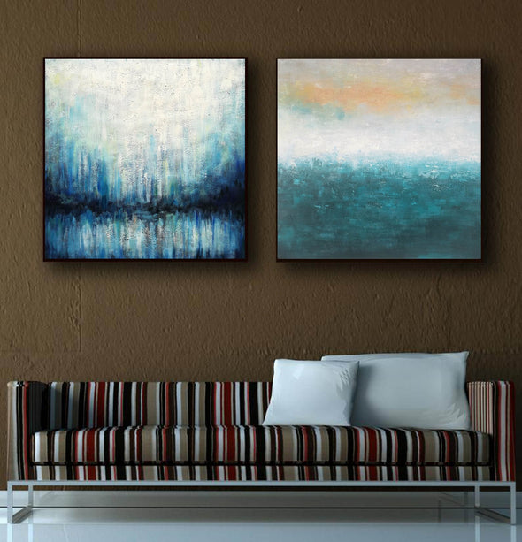 Oil on canvas abstract art  Original modern abstract painting F134-8