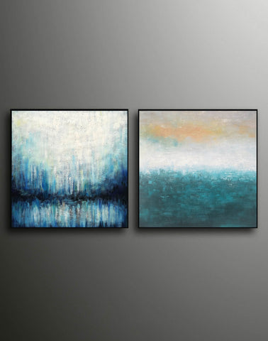 Image of Oil on canvas abstract art  Original modern abstract painting F134-9