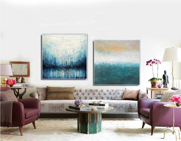 Oil on canvas abstract art  Original modern abstract painting F134-2