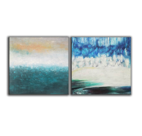 Image of Oil painting on canvas abstract  Abstract oil on canvas paintings F142-6