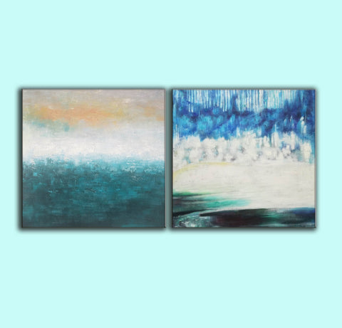 Image of Oil painting on canvas abstract  Abstract oil on canvas paintings F142-7