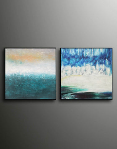Image of Oil painting on canvas abstract  Abstract oil on canvas paintings F142-2