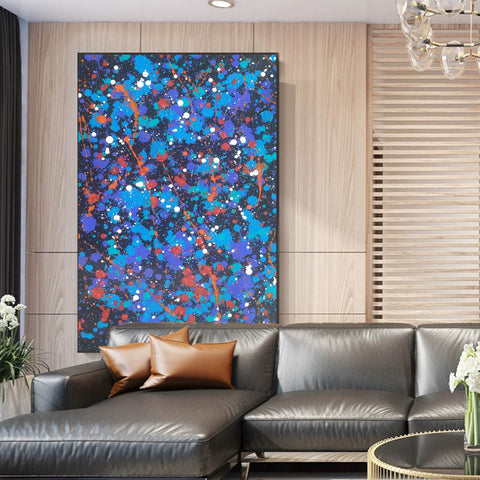 Image of Paint modern abstract | Colorful abstract drawings | Sample of abstract painting F189-8