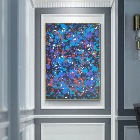 Image of Paint modern abstract | Colorful abstract drawings | Sample of abstract painting F189-9