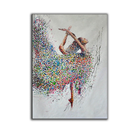 Image of Painting on canvas abstract  Contemporary abstract artists painting  Abstract art with explanation F163-5