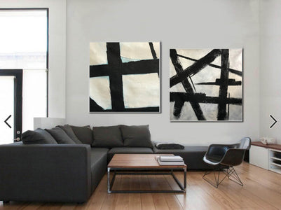 Black and white artwork | Black and white wall art F107-10