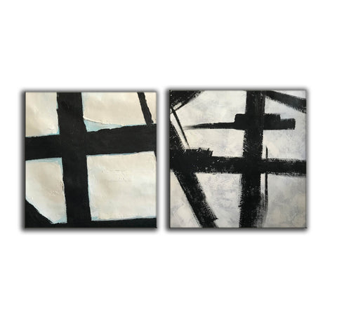 Black and white artwork | Black and white wall art F107-7