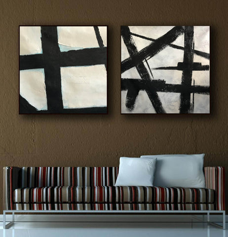 Image of Black and white artwork | Black and white wall art F107-2