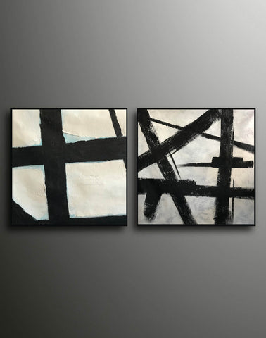 Image of Black and white artwork | Black and white wall art F107-9
