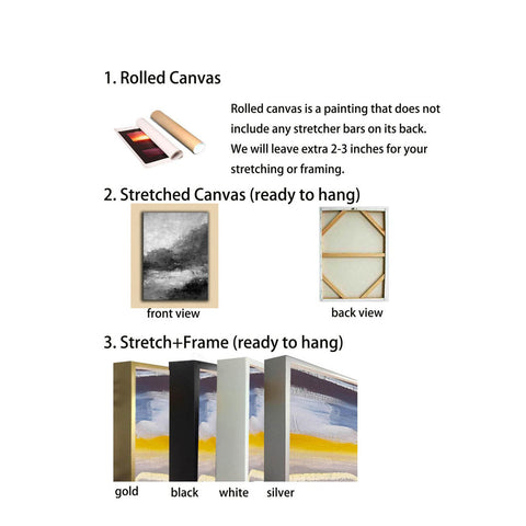 Image of Large canvas wall hangings | Big white canvas F2-11