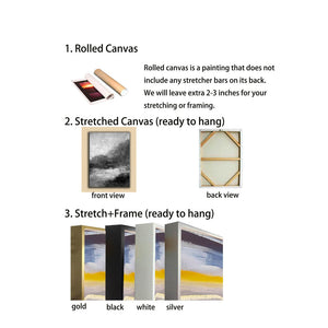 Large canvas wall hangings | Big white canvas F2-11