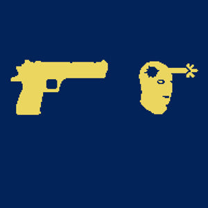 GUN AND HEAD ICON T-SHIRT