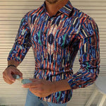Fashion Casual Printed Long Sleeve Shirt