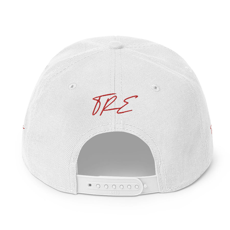 Alpha Omega Snapback Hat (white) - The Ripped Effect