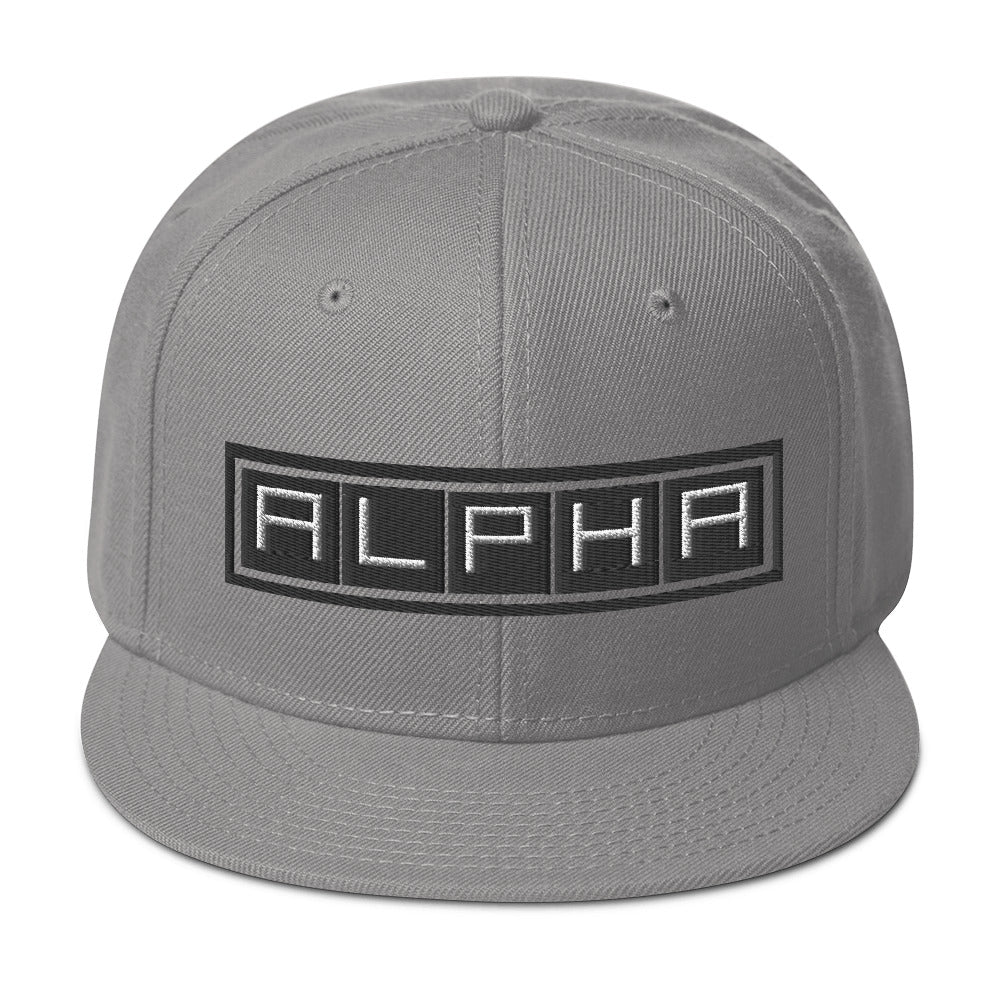 A.L.P.H.A Snapback Hat - The Ripped Effect