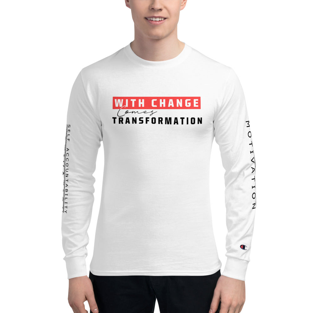 Change & Transformation Men's Champion Long Sleeve Shirt - The Ripped Effect