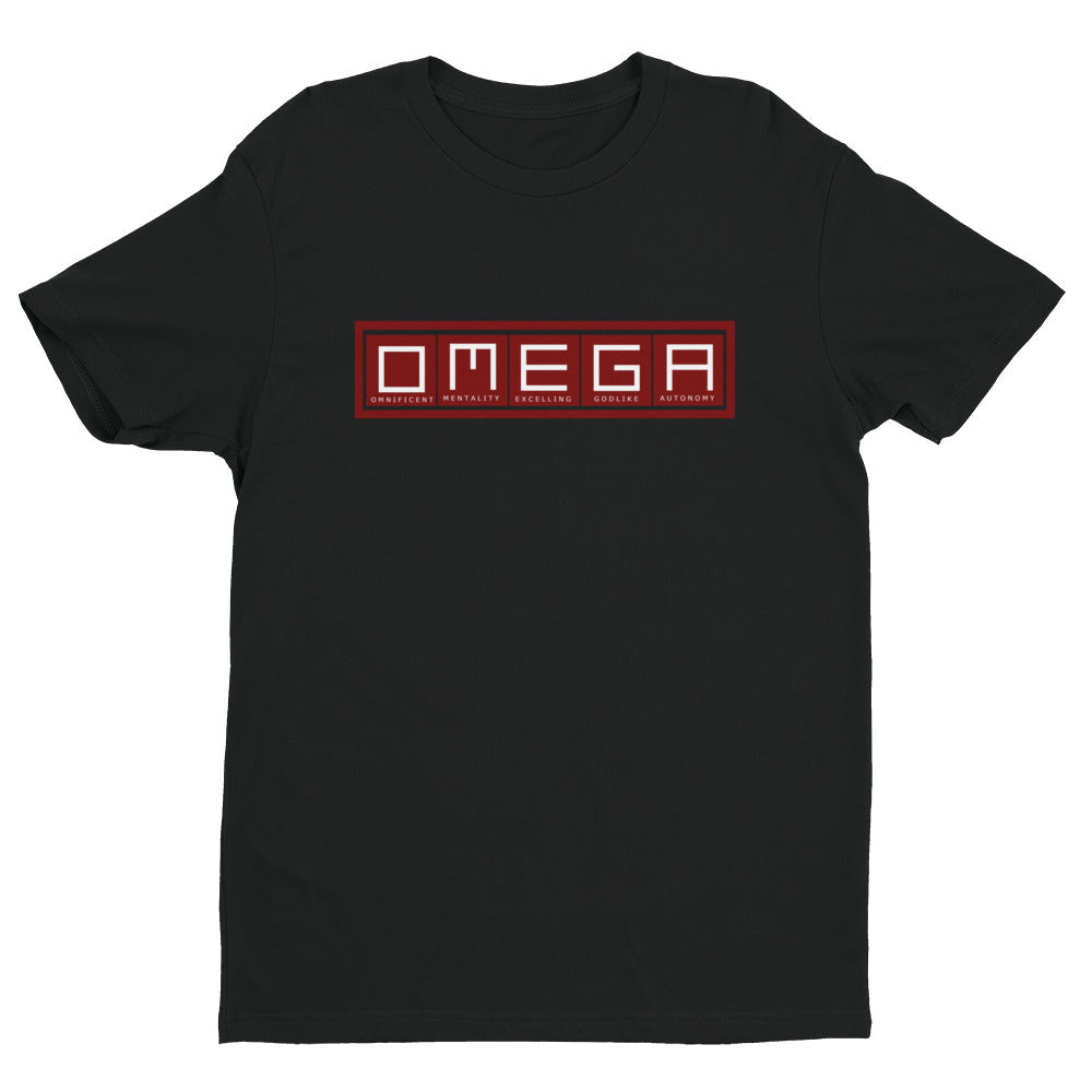O.M.E.G.A  Fitted Short Sleeve T-shirt - The Ripped Effect
