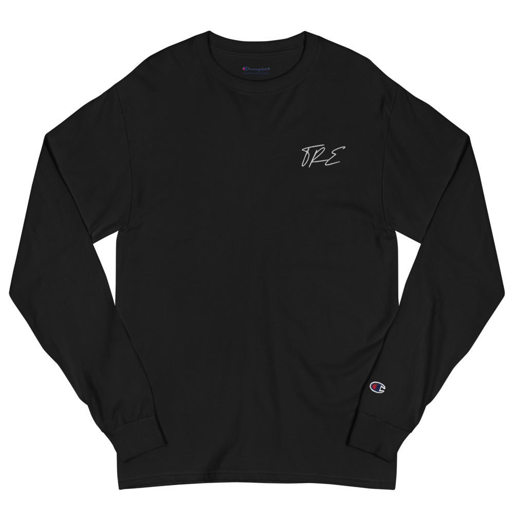 TRE Flagship Embroidered Champion Long Sleeve Shirt - The Ripped Effect