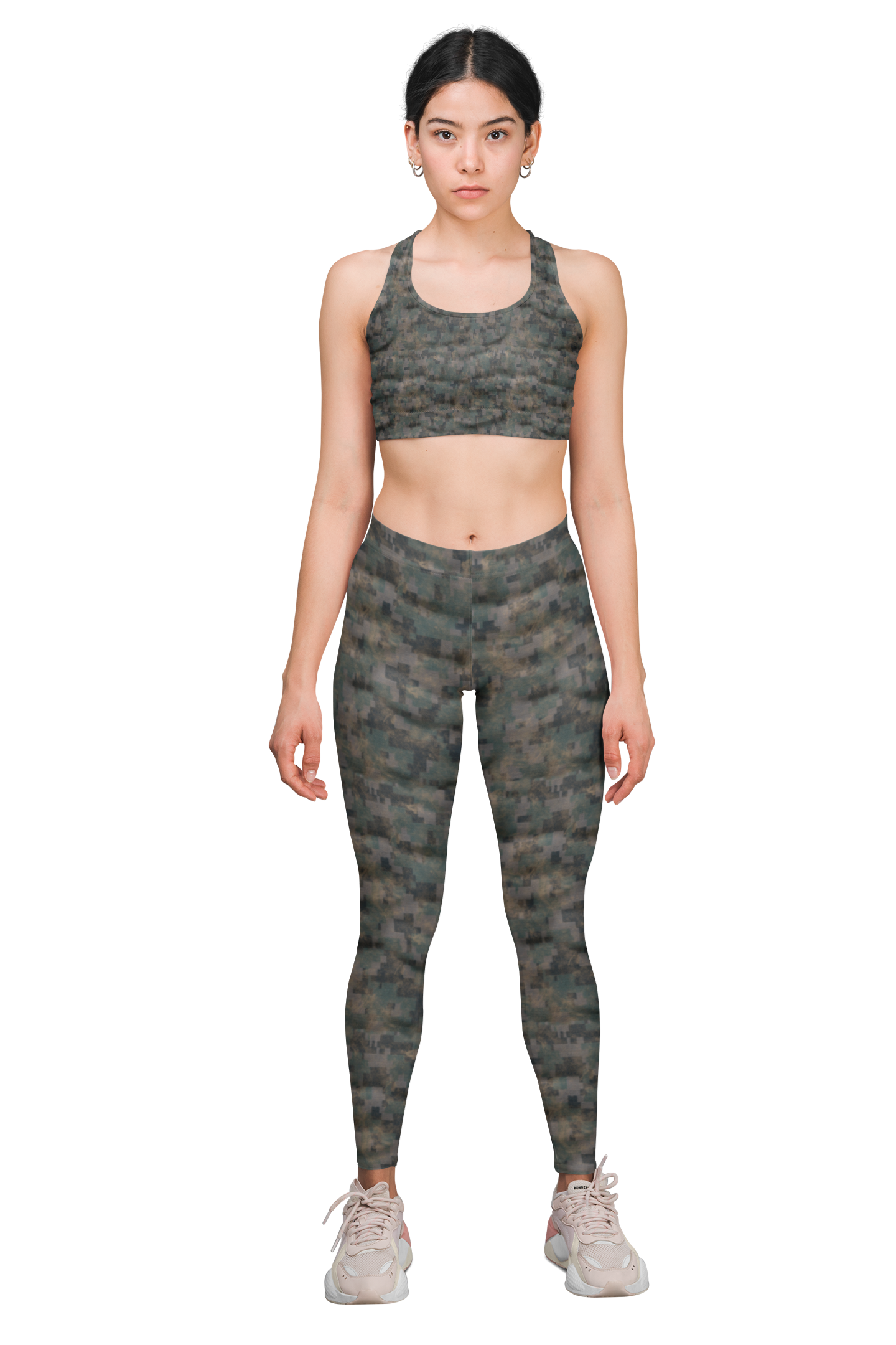 CamoFlossing | Mixed green digital camo with sand abrasions - The Ripped Effect