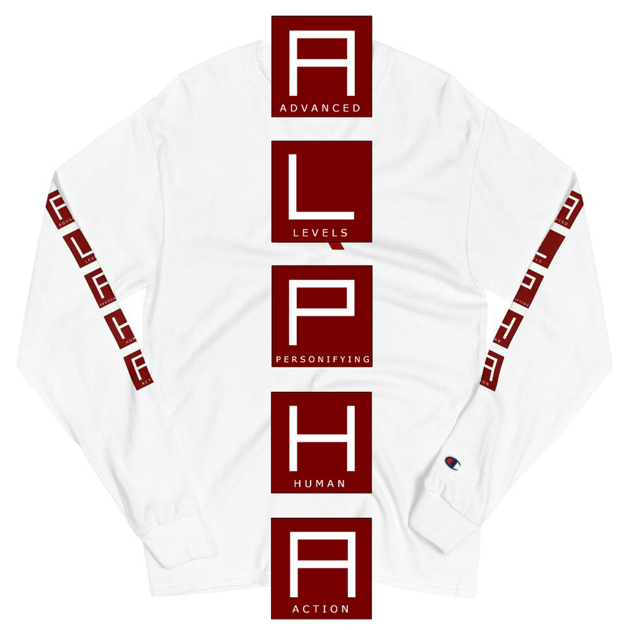 A.L.P.H.A Champion Long Sleeve Shirt - The Ripped Effect