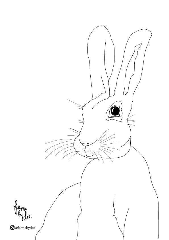 Harry the Hare Free Printable
