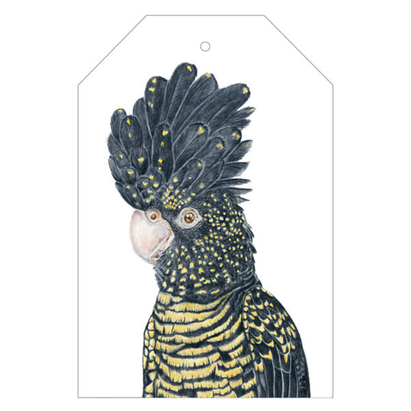 Lily the Red-Tailed Cockatoo Gift Tags - For Me By Dee