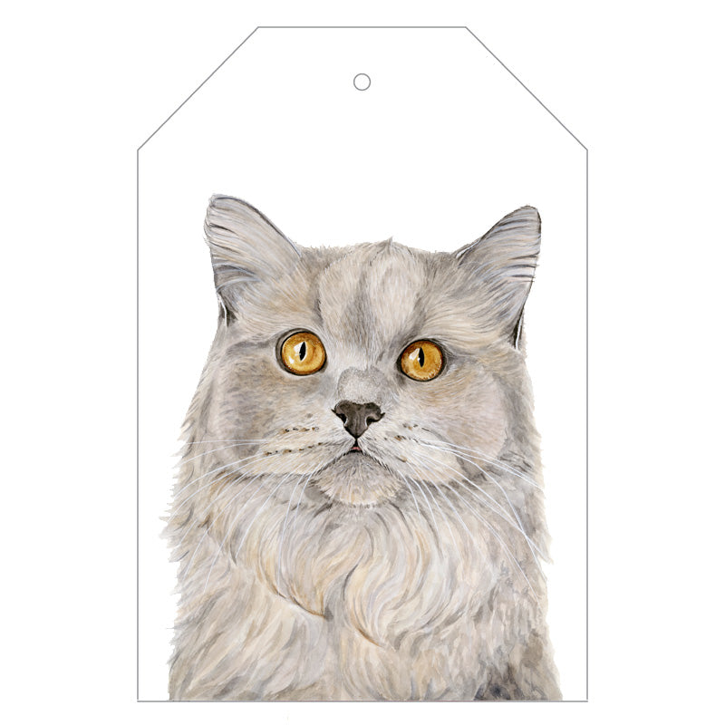 Otto the British Short Hair Cat Gift Tags - For Me By Dee