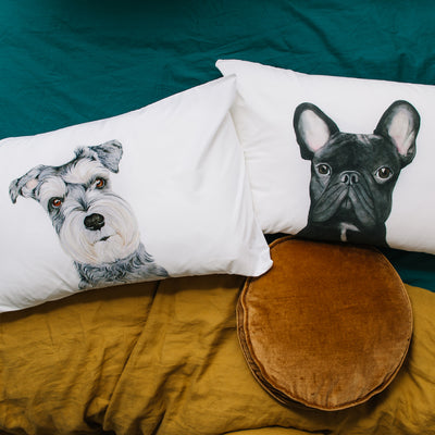 Chloe the Schnauzer Pillowcase - For Me By Dee