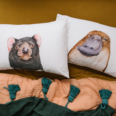 Desmond the Tasmanian Devil Pillowcase - For Me By Dee