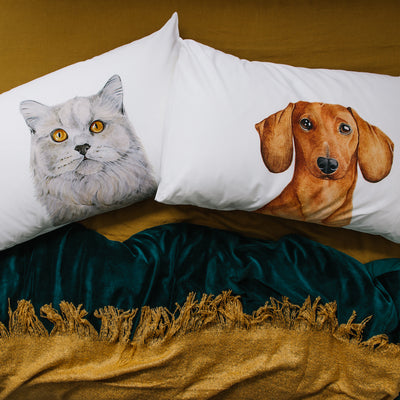 Duke the Dachshund Pillowcase - For Me By Dee