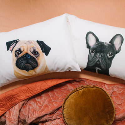 Gilbert the French Bulldog Pillowcase - For Me By Dee