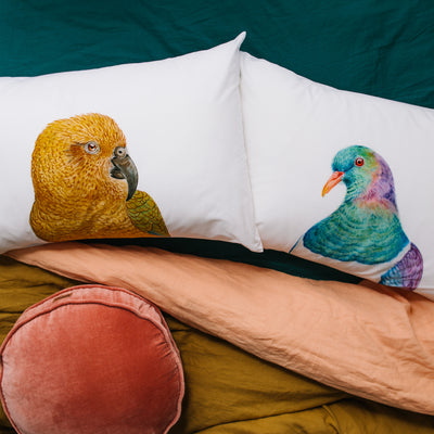 Kiri the Kereru Pillowcase - For Me By Dee