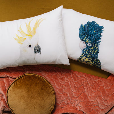 Lily the Red-Tailed Black Cockatoo Pillowcase - For Me By Dee
