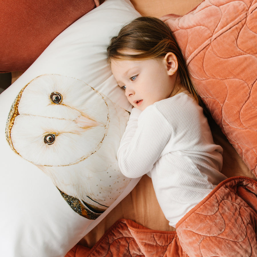 Luna the Barn Owl Pillowcase - For Me By Dee