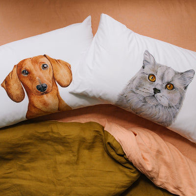 Otto the British Short Hair Cat Pillowcase - For Me By Dee