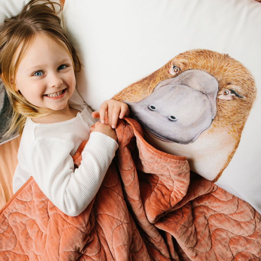 Poppy the Platypus Pillowcase - For Me By Dee