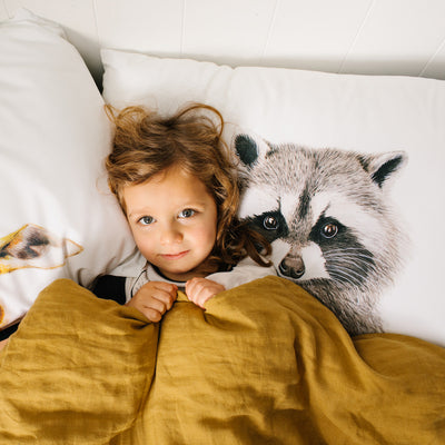 Rocco the Raccoon Pillowcase - For Me By Dee