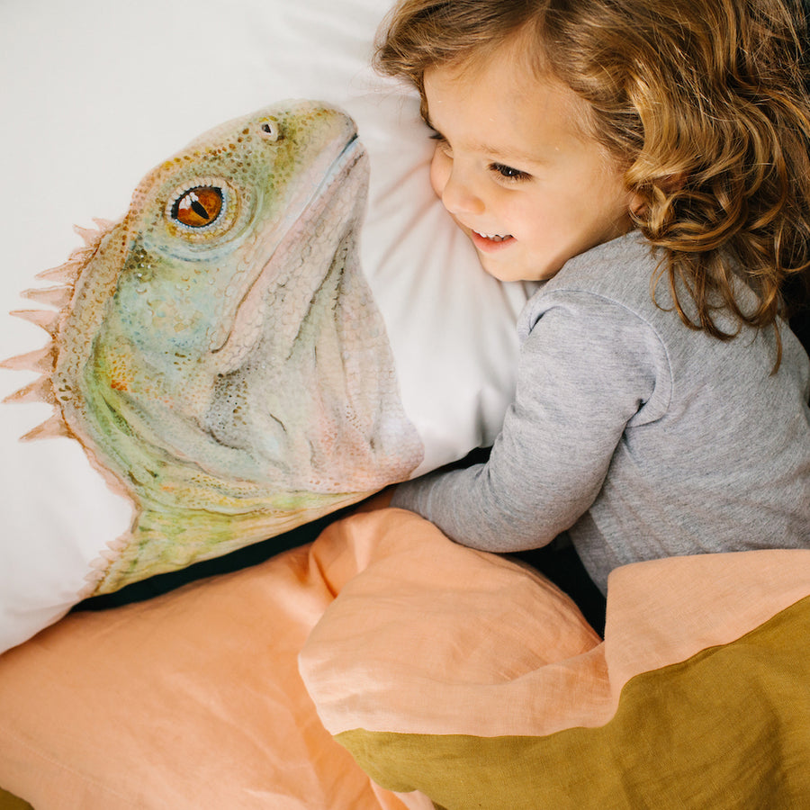 Triton the Tuatara Pillowcase - For Me By Dee