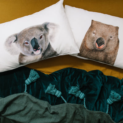 Winston the Wombat Pillowcase - For Me By Dee