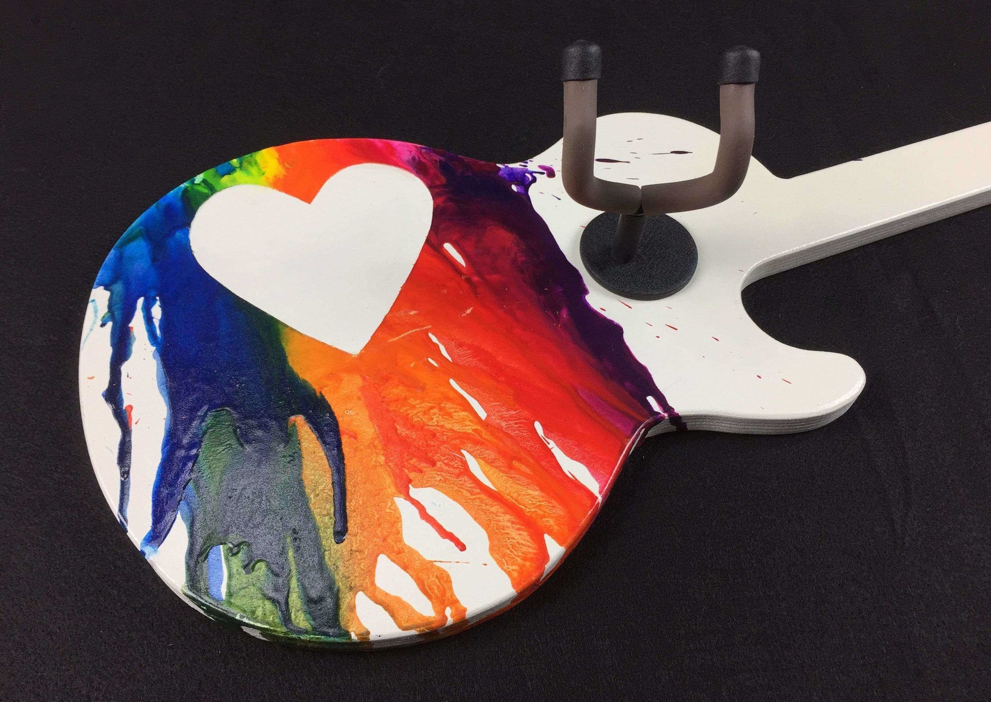 "Custom eRock Jr. ""Melting Heart"" Guitar Hanger-Wall-Axe Guitar Hangers"