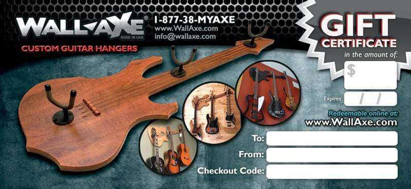 Gift Certificates-Wall-Axe Guitar Hangers