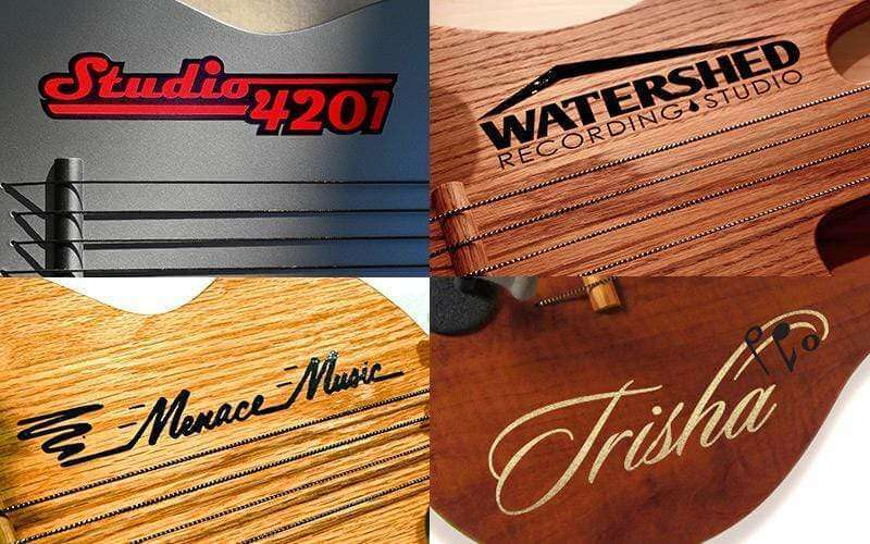 Personalized Vinyl Decal-Wall-Axe Guitar Hangers